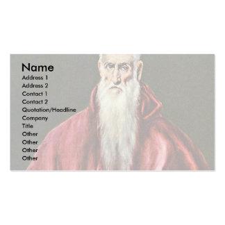 St Jerome como cardenal por el EL de Greco Plantillas De Tarjetas Personales