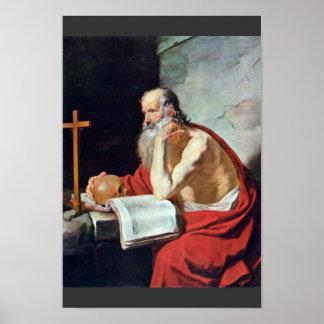 St Jerome de Blanchard Jacques (la mejor calidad) Impresiones