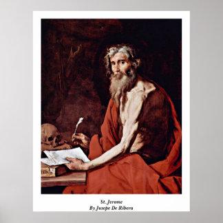 St Jerome de Jusepe De Ribera Poster
