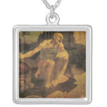 St Jerome de Leonardo da Vinci circa 1481 Collar Personalizado