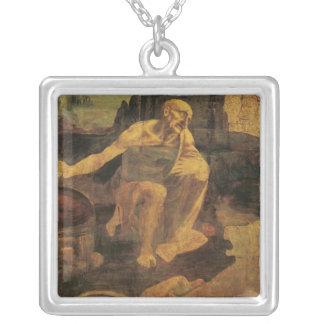 St Jerome de Leonardo da Vinci circa 1481 Collar Plateado