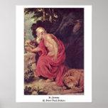 St Jerome de Peter Paul Rubens Impresiones