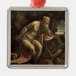 St. Jerome, early 1560s (oil on canvas) Metal Ornament