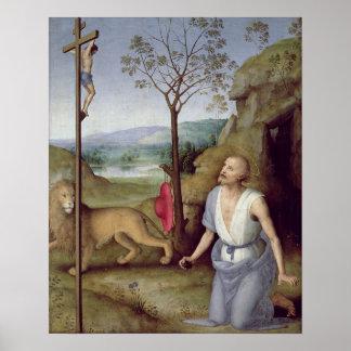 St Jerome en el desierto, c.1499-1502 Poster