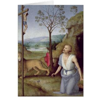 St Jerome en el desierto, c.1499-1502 Tarjeta De Felicitación