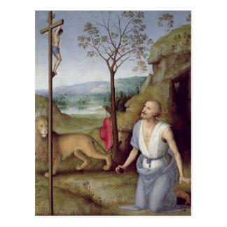 St Jerome en el desierto, c.1499-1502 Postal