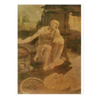 St Jerome en el desierto de Leonardo da Vinci Postal