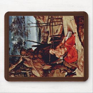 St Jerome en el desierto por la loteria Lorenzo (e Alfombrilla De Ratón