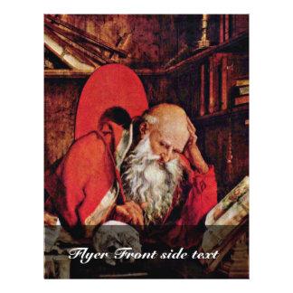 St Jerome en la célula de Marinus Claesz. Van Reym Tarjetas Publicitarias