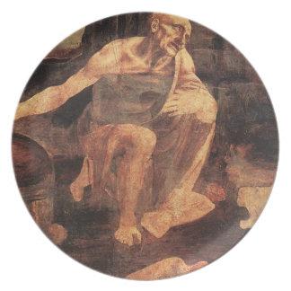 """""""St Jerome en los desiertos Plato De Comida"""
