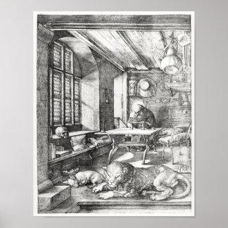 St Jerome en su estudio, 1514 Posters