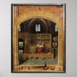 St Jerome en su estudio, c.1475 Posters