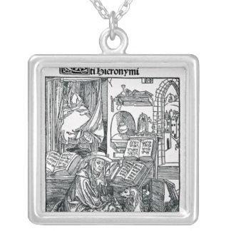 St Jerome en su estudio Colgante Cuadrado