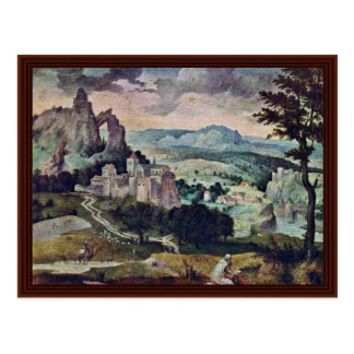 St Jerome en un paisaje de Massys Cornelio Postales