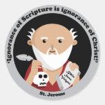 St Jerome Etiqueta Redonda