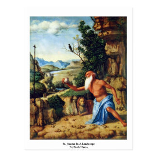 St. Jerome In A Landscape By Birth Name Postcard