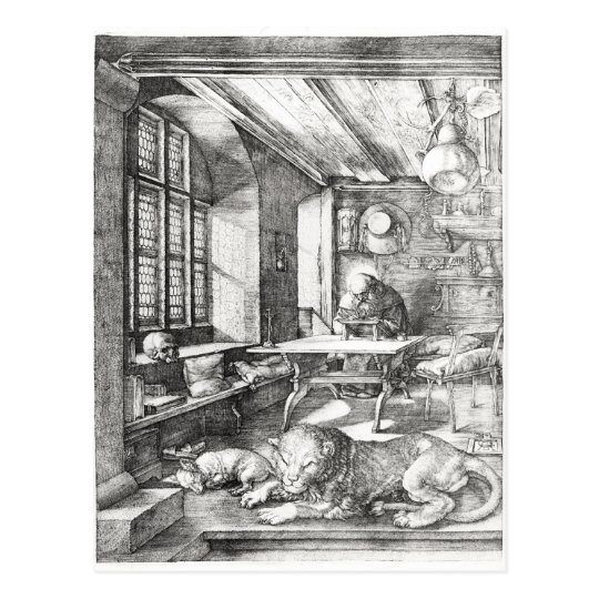 St. Jerome in his Study, 1514 Postcard