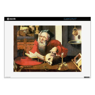 "St. Jerome in his Study 15"" Laptop Decal"