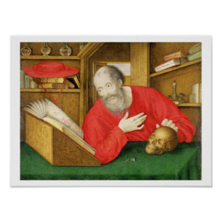 St. Jerome in his Study, 1650 (bodycolour and w/c Poster