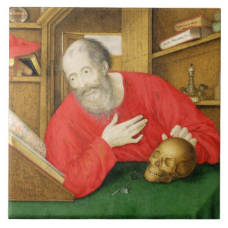 St. Jerome in his Study, 1650 (bodycolour and w/c Tile