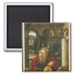 St. Jerome in his Study 2 Inch Square Magnet