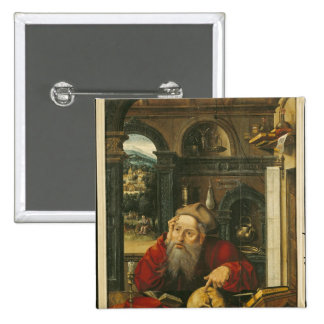 St. Jerome in his Study Pinback Buttons