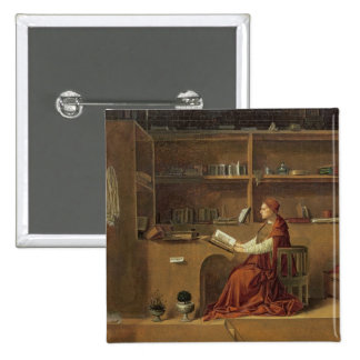 St. Jerome in his study, c.1475 2 Pinback Button