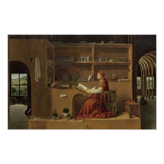 St. Jerome in his study, c.1475 2 Poster