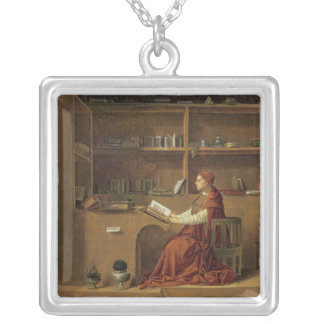 St. Jerome in his study, c.1475 2 Silver Plated Necklace