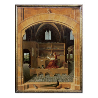 St. Jerome in his study, c.1475 Postcard