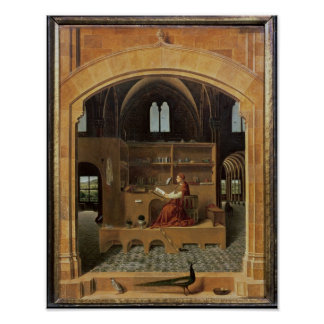 St. Jerome in his study, c.1475 Print
