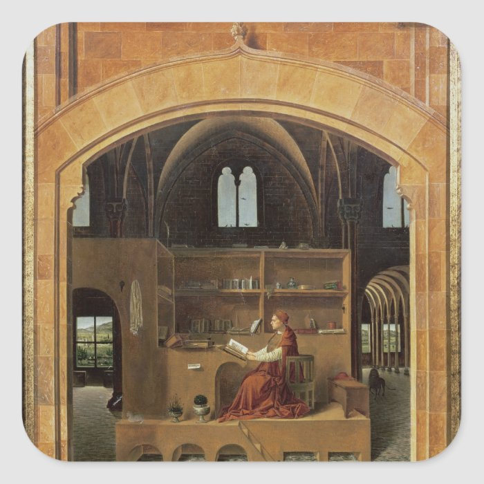St. Jerome in his study, c.1475 Square Sticker