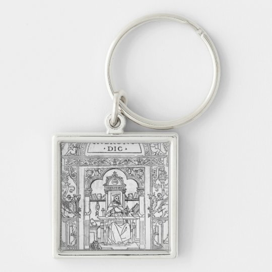 St. Jerome in his Study Keychain