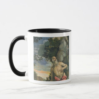 St. Jerome in Penitence (oil on canvas) Mug