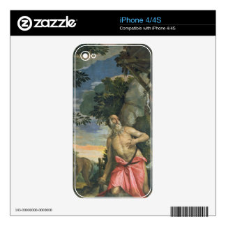 St. Jerome in Penitence (oil on canvas) Skin For iPhone 4S