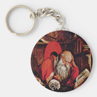 St. Jerome In The Cell By Marinus Claesz. Van Reym Keychain