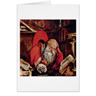 St. Jerome In The Cell By Marinus Reymerswaele Card