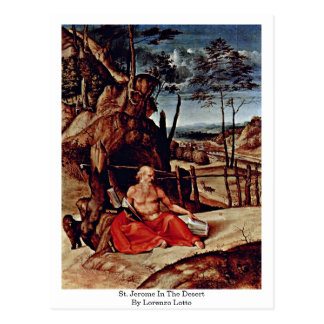 St. Jerome In The Desert By Lorenzo Lotto Postcard