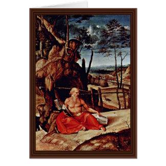 St Jerome In The Desert By Lotto Lorenzo Best Qu Card