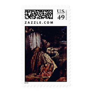 St. Jerome In The Desert By Lotto Lorenzo (Best Qu Postage Stamp