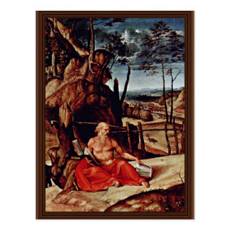 St Jerome In The Desert By Lotto Lorenzo Best Qu Post Card
