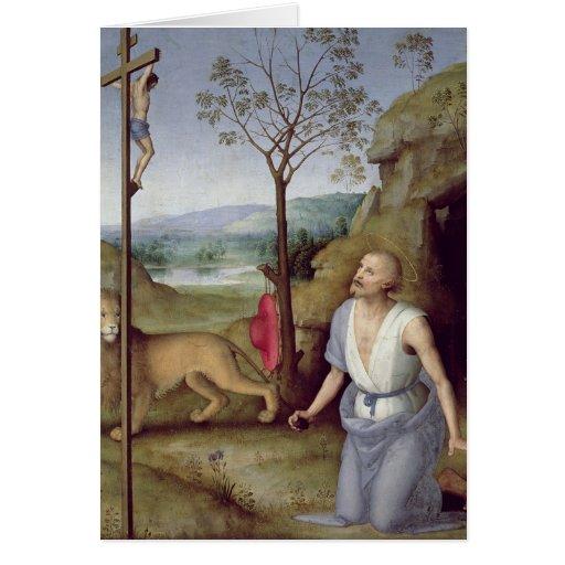 St. Jerome in the Desert, c.1499-1502 Card