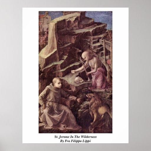 St. Jerome In The Wilderness By Fra Filippo Lippi Poster