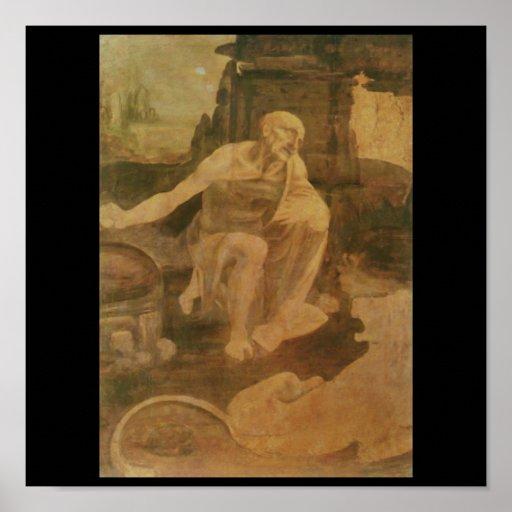 St. Jerome in the Wilderness by Leonardo Da Vinci Poster ...