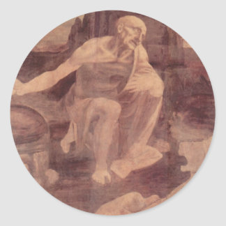 St. Jerome in the Wilderness Classic Round Sticker