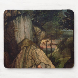 St. Jerome Meditating in the Desert, 1506 Mouse Pad