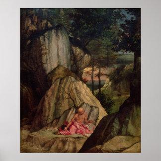 St. Jerome Meditating in the Desert, 1506 Poster