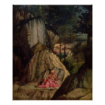 St. Jerome Meditating in the Desert, 1506 Posters
