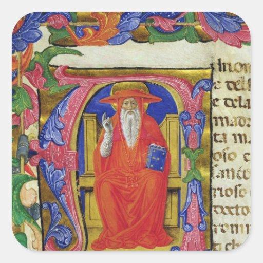 St Jerome Pegatina Cuadrada