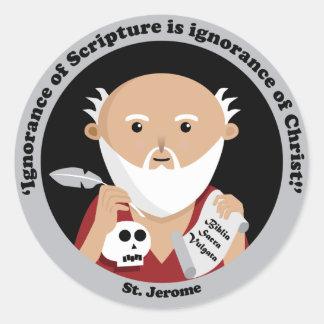 St Jerome Pegatina Redonda
